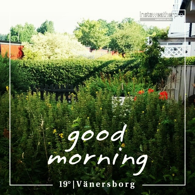God morgon! #instaweather #instaweatherpro #weather #wx #android  #vänersborg #sverige #day #summer #rain #afternoon #se